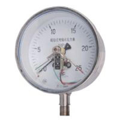 YXC-153BFZ不锈钢耐震磁助式电接点压力表