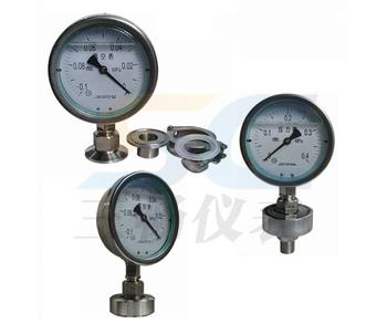 Y-100A-Z/Z/MC卫生型隔膜压力表