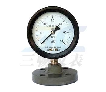 YTP-75S/100SFF防强腐全塑隔膜压力表