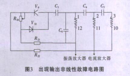 出现输出非线性故障电路图