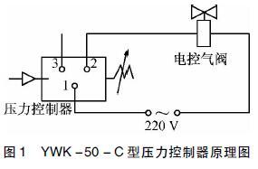 YWK -50 - C 型压力控制器原理图