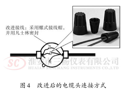 改进后的电缆头连接方式