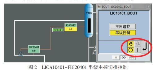 LICA10401-FIC20401 串级主控切换控制