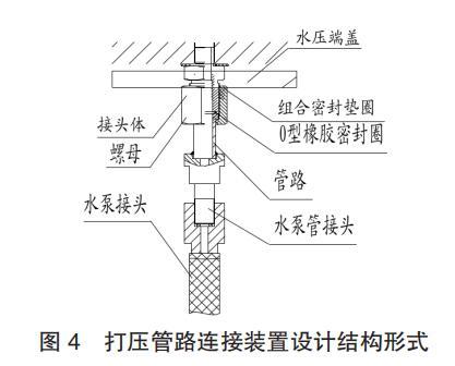 打压管路连接装置设计结构形式