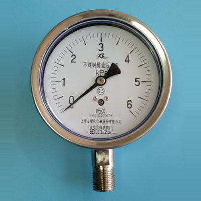 YE-100BF不锈钢膜盒压力表