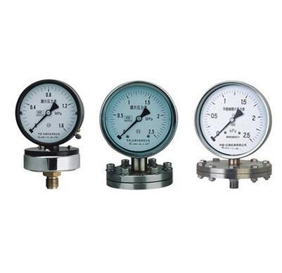 YPF-150B-F法兰不锈钢膜片压力表