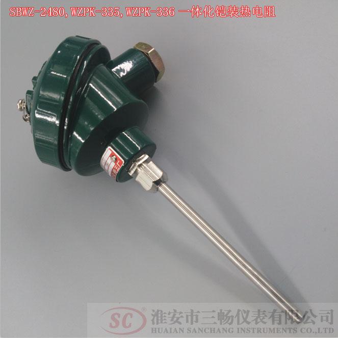 SBWZ-2480,WZPK-335,WZPK-336一体化铠装热电阻